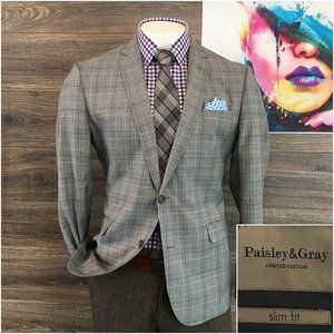 Paisley & Gray Slim Fit Wool Sport Coat Jacket